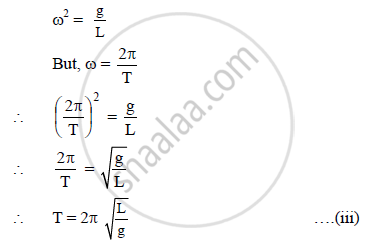 Derive an Expression for the Period of Motion of a Simple