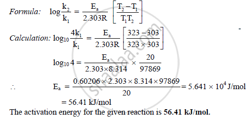 activation energy equation