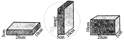 Figure Shows a Brick of Weight 2 Kgf and Dimensions 20 Cm X