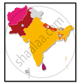Map Of Asia No Names.In The Given Outline Map Of South Asia Five Countries Have Been