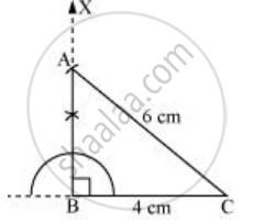 Construct a Right-angled Triangle Whose Hypotenuse is 6 Cm Long and
