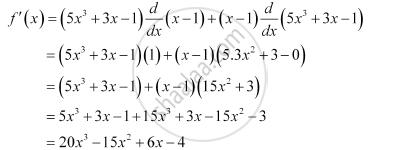 Find The Derivative Of 5x3 3x 1 X 1 Mathematics Shaalaa Com