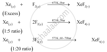 Xenon Fluorides XeF2, XeF4 and XeF6 - CBSE (Science) Class 12