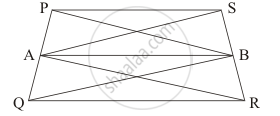 IN THE FIGURE PQRS is a parallelogram in which A and B are