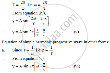 Derive an Expression for One Dimensional Simple Harmonic Progressive