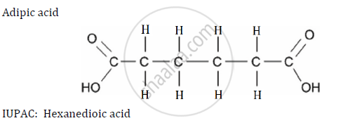 write the structures and iupac names of the  adipic acid compound