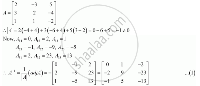 Find A1 Using A1 Solve The System Of Equations 2x 3y 5z