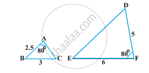 State which pair of triangles in the following figure are