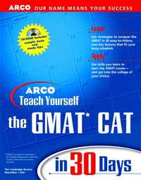 Arco Teach Yourself Gmat Cat in 30 Days (Arcos Teach Yourself in 24 Hours Series) - Shaalaa.com
