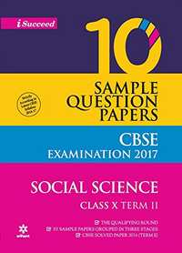 CBSE 10 Sample Question Papers - Social Science for Class 10th Term-2 - Shaalaa.com
