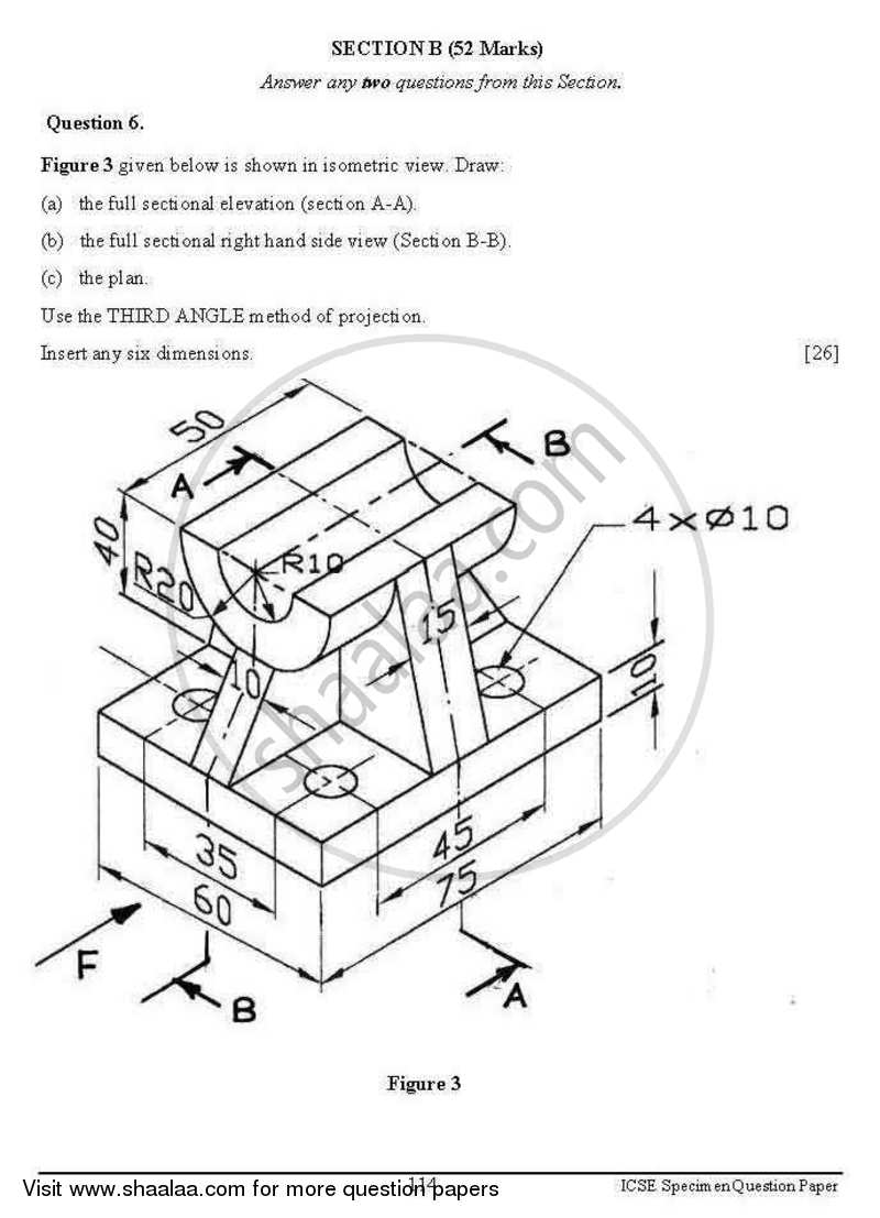 question paper technical drawing applications 2012