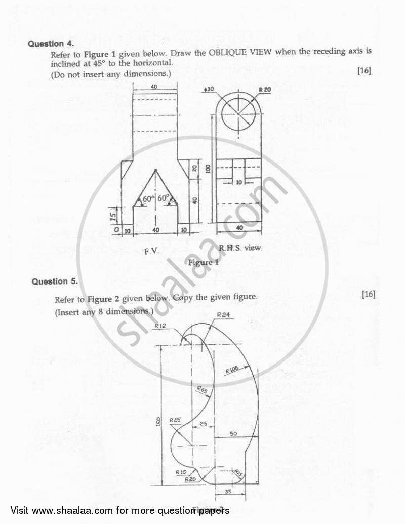 question paper technical drawing applications 2010