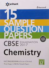 I-Succeed 15 Sample Question Papers CBSE Examination 2017 - Chemistry Class 12 - Shaalaa.com