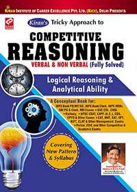 Kiran's Tricky Approach to Competitive Reasoning Verbal & Non Verbal (Fully Solved) 7000+Objective Question Logical Reasoning & Analytical Ability - 1280 - Shaalaa.com