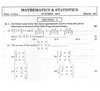 Question Paper - Mathematics and Statistics 2014 - 2015-H.S.C-12th Board Exam Maharashtra State Board (MSBSHSE)
