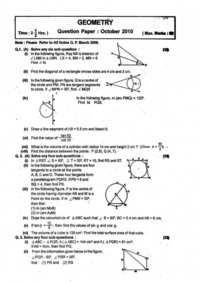 Geometry Balbharati Model Question Paper Set 3 2018-2019 SSC