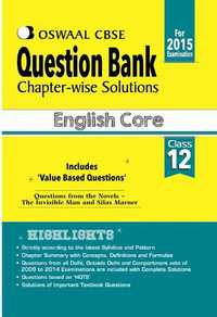 Oswaal CBSE Question Bank Chapter-Wise Solutions for Class 12 English Core - Shaalaa.com