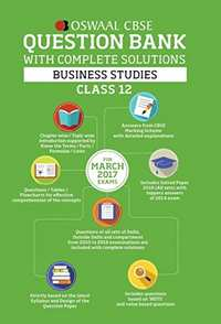 Oswaal CBSE Question Bank with Complete Solutions for Class 12 Business Studies (for 2017 Exams) - Shaalaa.com