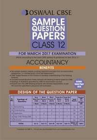 Oswaal CBSE Sample Question Papers for Class 12 Accountancy