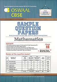 Oswaal CBSE Sample Question Papers for Class 12 Mathematics - Shaalaa.com