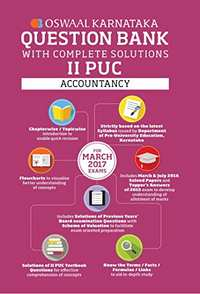 Oswaal Karnataka 2 PUC Question Bank with Complete Solutions for Accountancy - Shaalaa.com