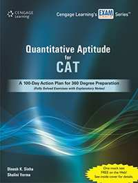 Quantitative Aptitude for CAT : A 100 - Day Action Plan for 360 Degree Preparation (Fully Solved Exercises with Explanatory Notes): A 1-Day Action ... Solved Exercises with Explanatory Notes) - Shaalaa.com