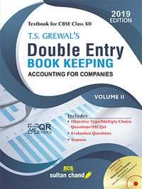 T S Grewal Class 12 Accountancy - Double Entry Book Keeping Volume 2 - Shaalaa.com