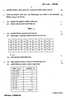 Question Paper - Psychological Testing and Statistics 2014 - 2015 - B.A. - 3rd Year (TYBA) - University of Mumbai