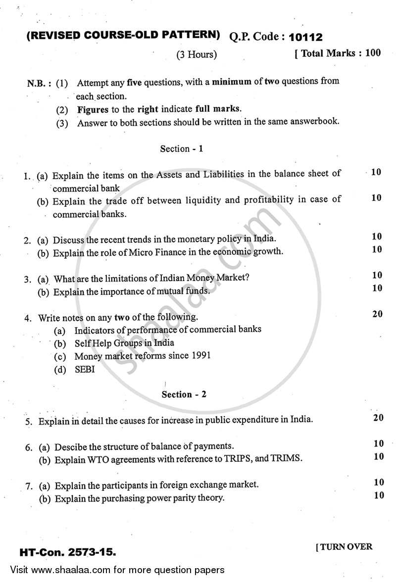 Question Paper - Business Economics 3 2014 - 2015 - B.Com. - 3rd Year (TYBcom) - University of Mumbai