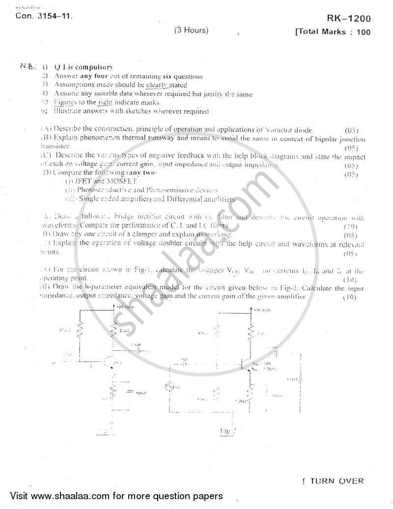Question Paper - Basic Electronics 2010 - 2011 - B.E. - Semester 3 (SE Second Year) - University of Mumbai