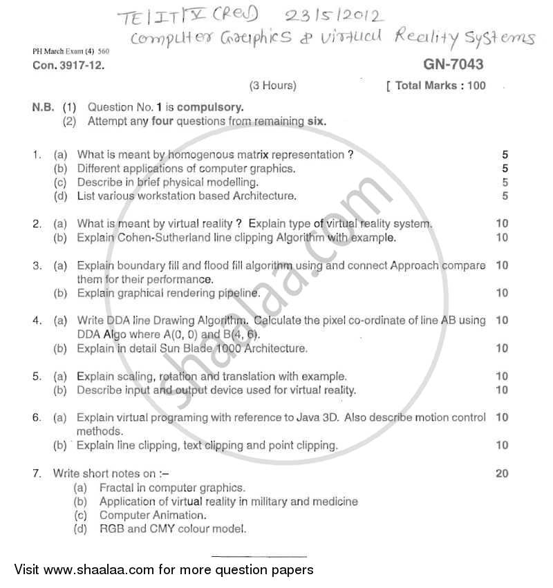 Question paper computer graphics and virtual reality 2011 2012 question paper computer graphics and virtual reality 2011 2012 be semester 5 freerunsca Choice Image