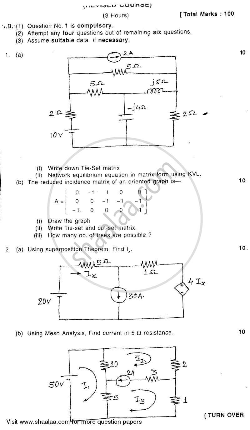 Question Paper - Electrical Network Analysis and Synthesis 2008 - 2009 - B.E. - Semester 3 (SE Second Year) - University of Mumbai