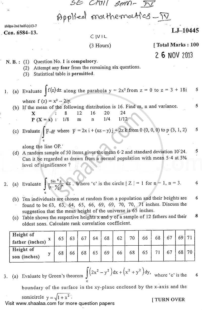 Question Paper - Elements of Power System 2013 - 2014 - B.E. - Semester 4 (SE Second Year) - University of Mumbai