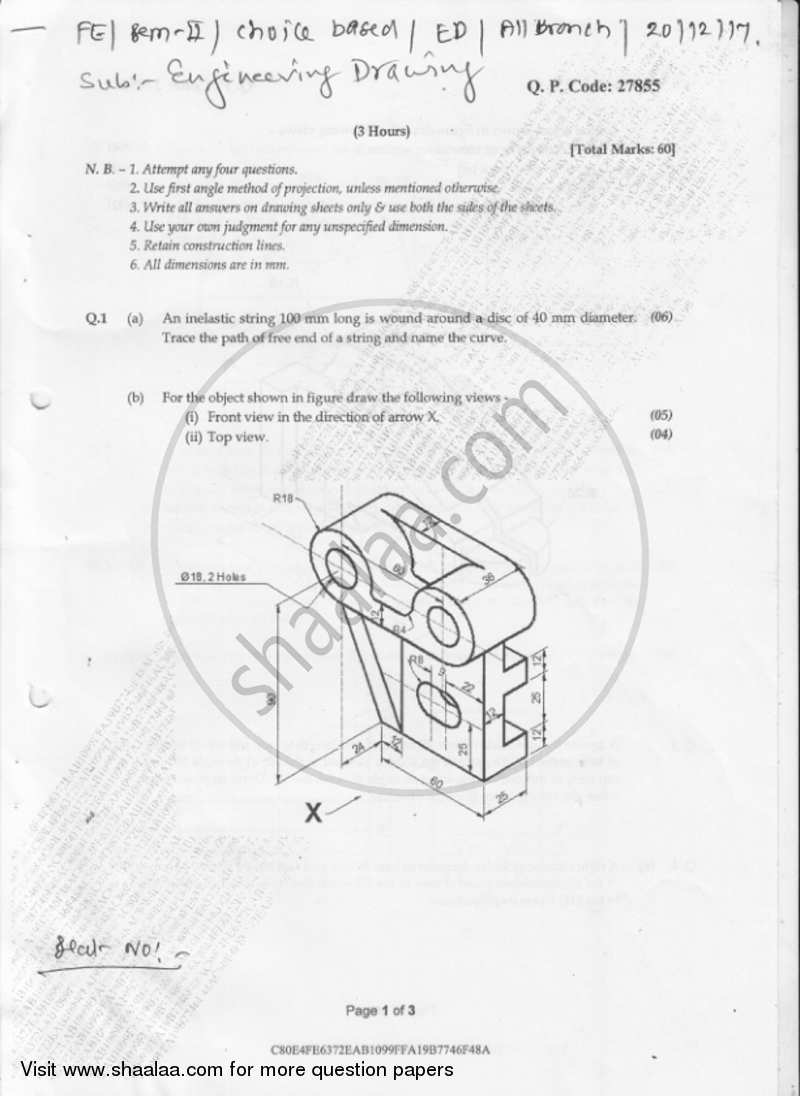 Engineering drawing 2017 2018 be construction engineering