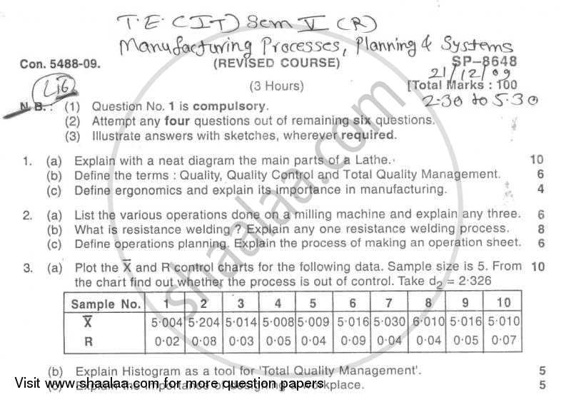 Question Paper - BE IT (Information Technology) Semester 5