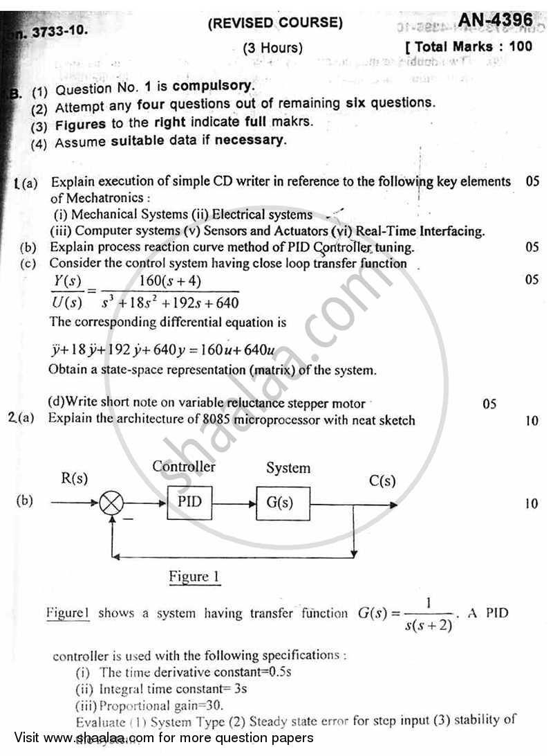 Mechatronics 2010-2011 BE Mechanical Engineering Semester 6