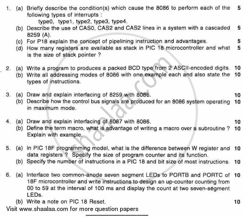 Question Paper - BE Electronics Engineering Semester 6 (TE Third