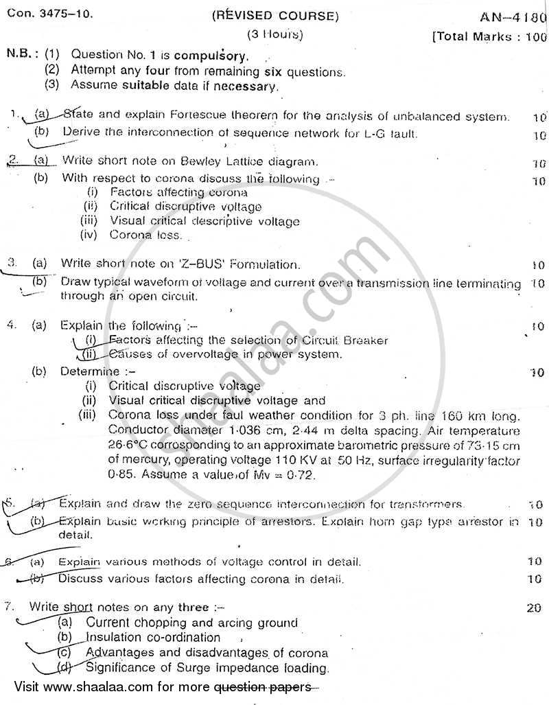 Question Paper - Power System Analysis 2009 - 2010 - B.E. - Semester 5 (TE Third Year) - University of Mumbai
