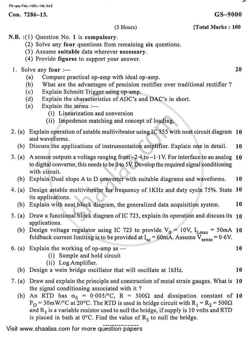 Question Paper - Signal Conditioning Circuit Design 2012 - 2013 - B.E. - Semester 5 (TE Third Year) - University of Mumbai