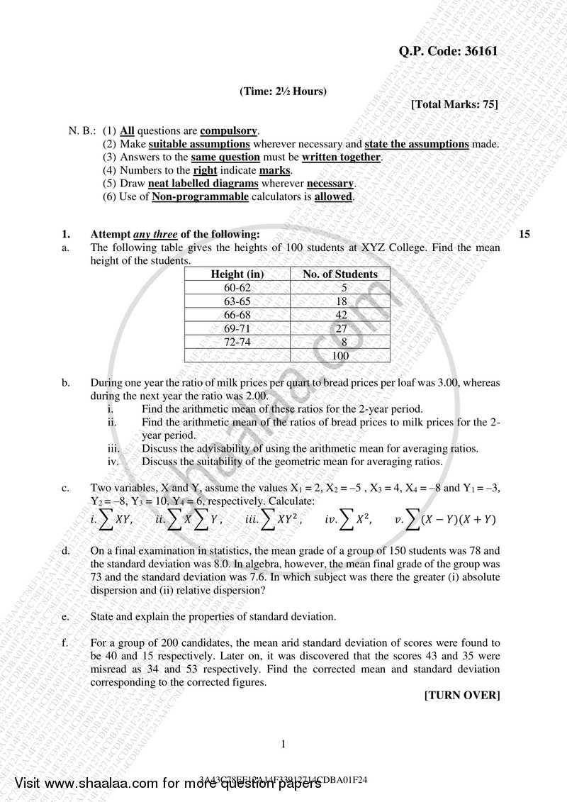 Computer Oriented Statistical Techniques 2017-2018 B Sc IT