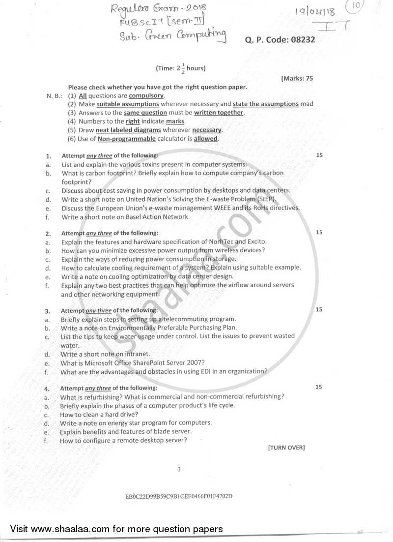 Diploma question paper 2018 pdf