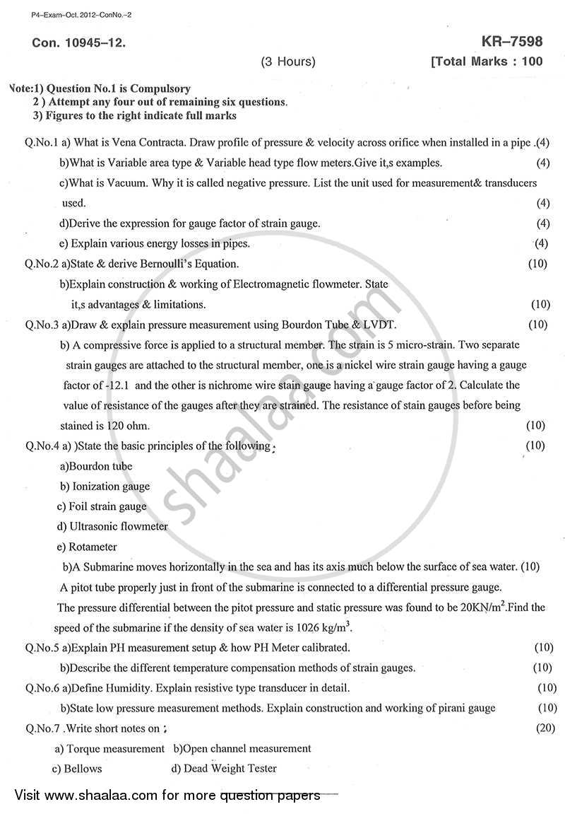 Transducers 2 2012-2013 - B.E. - Semester 4 (SE Second Year) - University of Mumbai question paper with PDF download