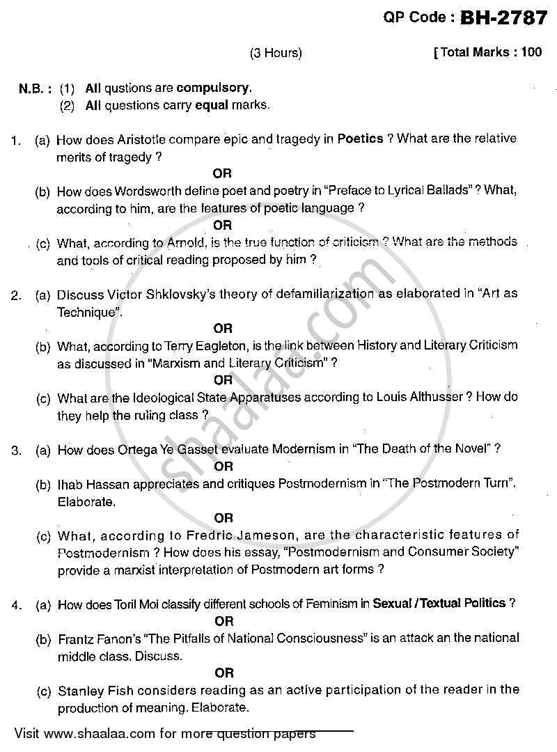 question paper literary theory and criticism m a question paper literary theory and criticism 2013 2014 m a part 2