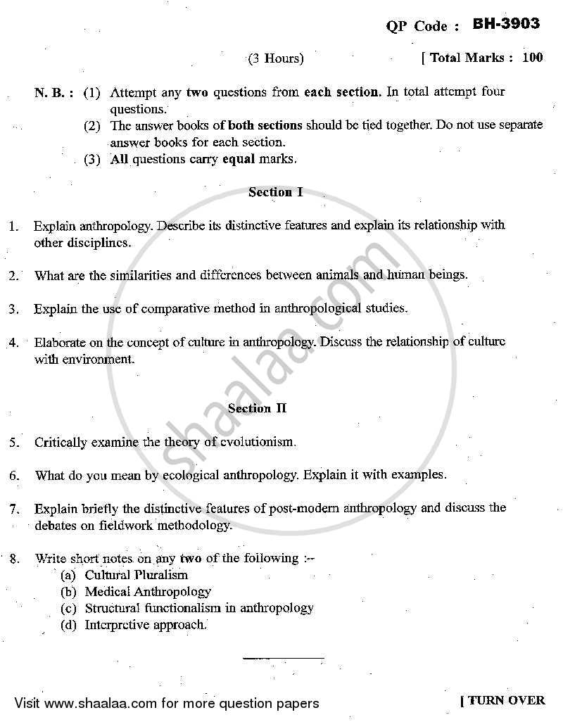 question paper theoretical anthropology m a question paper theoretical anthropology 2013 2014 m a part 1 university of