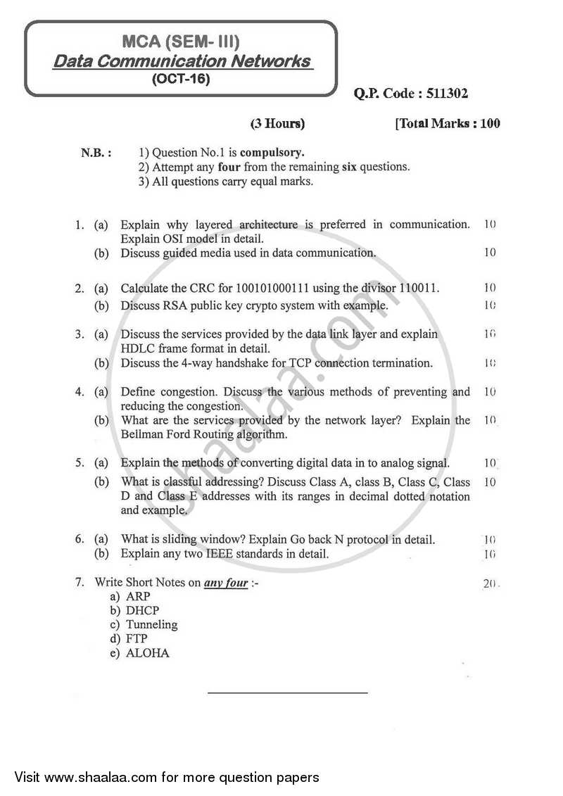 Cryptography Vtu Model Question Paper