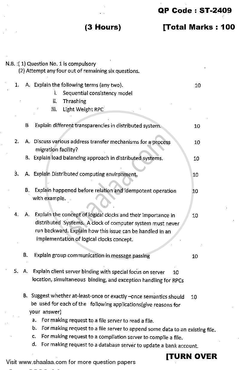 Question paper distributed computing 2013 2014 master of question paper distributed computing 2013 2014 mca semester 5 university of malvernweather Images