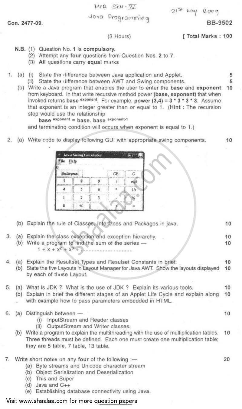 Java multiplication table gallery periodic table images question paper java programming 2008 2009 mca semester question paper java programming 2008 2009 mca semester gamestrikefo Choice Image