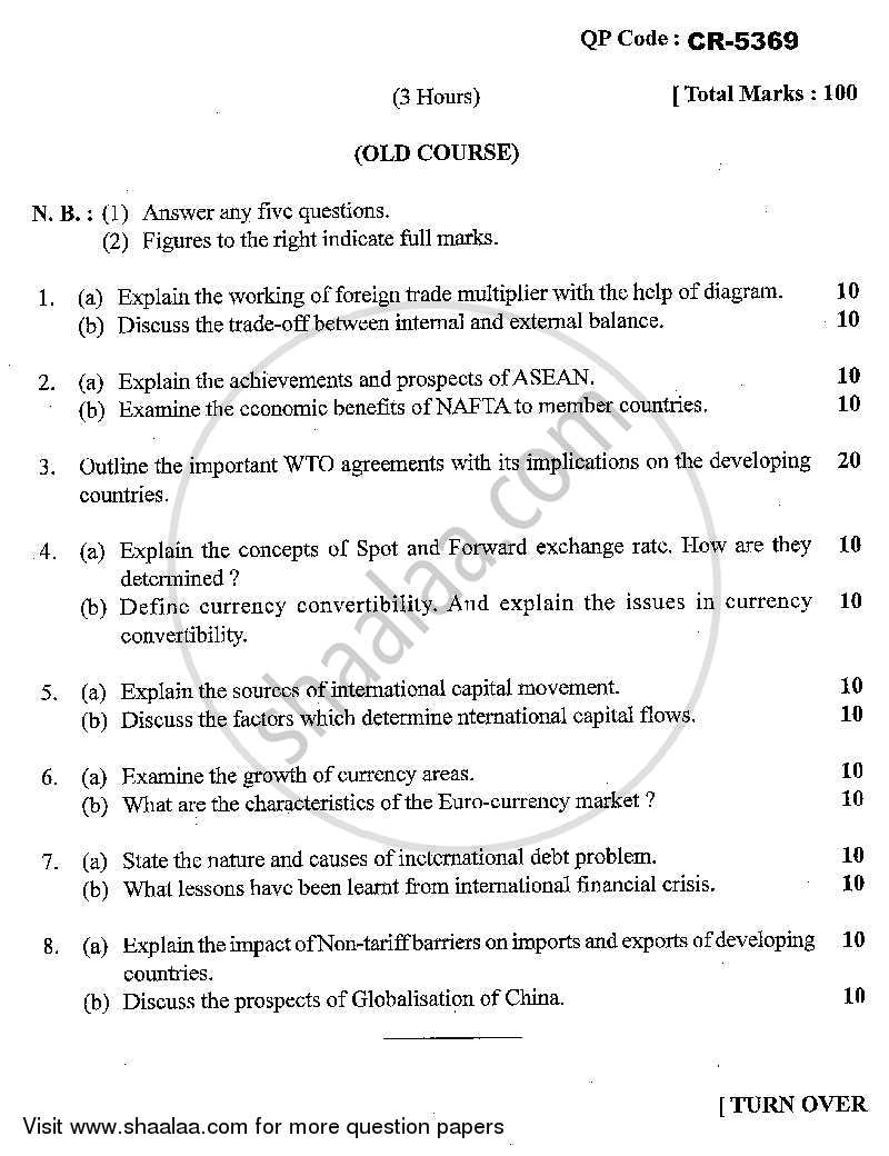 Question Paper - Economics of Global Trade and Finance 2013 - 2014 - M.Com. - Part 1 - University of Mumbai