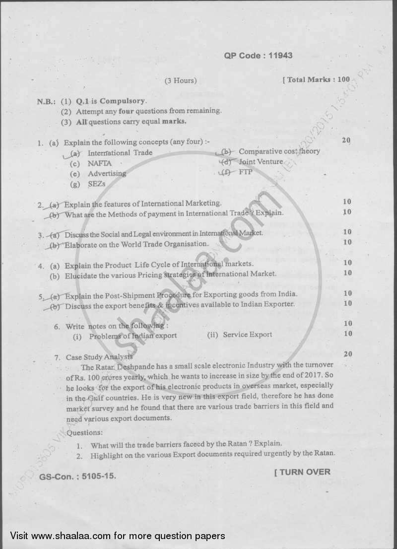 international business management question papers This mba sample paper of international business is an example of the exam model we hope this model question paper for mba marketing management will help you in.