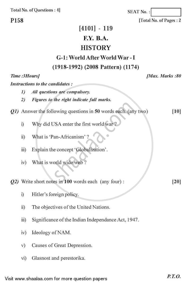 5 paragraph essay about world war 1
